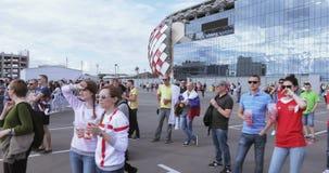 La FIFA évente le festival de ` au stade de Spartak banque de vidéos
