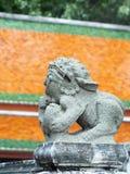 La figura animale di pietra di miti di fantasia leone-ha gradito la scultura Fotografie Stock Libere da Diritti