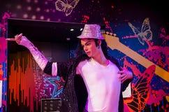 La figura de cera de Michael Jackson en señora Tussauds Singapore Foto de archivo libre de regalías