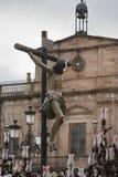 La figura de Jesús en la cruz talló en madera del escultor Alvarez Duarte Foto de archivo libre de regalías