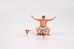 La figura de la diversión del luchador del sumo Foto de archivo