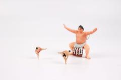 La figura de la diversión del luchador del sumo Imagen de archivo libre de regalías