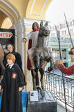 La figura di Peter le grande a cavallo Fotografia Stock Libera da Diritti
