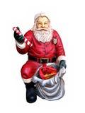 La figura di Santa Claus ha isolato su bianco Immagini Stock