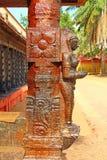 La figura en el templo hindú Swami Temple de Janardana Templo de Varkala Imagen de archivo