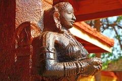 La figura en el templo hindú Swami Temple de Janardana Templo de Varkala Imagen de archivo libre de regalías
