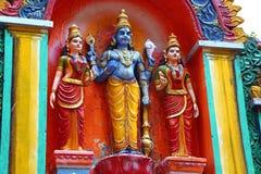 La figura en el templo hindú Swami Temple de Janardana Templo de Varkala Fotos de archivo