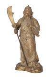 La figura moldeada Guan Yu aisló Fotografía de archivo libre de regalías
