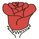 La figura rojo subió en un fondo blanco stock de ilustración