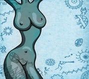 La figura seducente della ragazza sull'origine etnica royalty illustrazione gratis