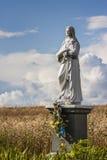 La figurina vergine benedetta nel campo, Polonia Fotografia Stock