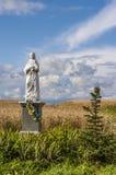 La figurina vergine benedetta nel campo, Polonia Fotografie Stock