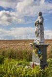 La figurina vergine benedetta nel campo, Polonia Fotografie Stock Libere da Diritti