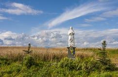 La figurine bénie de Vierge dans le domaine, Pologne Photo stock