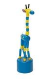 La figurine multicolore lumineuse de girafe a découpé d'un arbre photographie stock