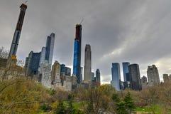 La fila del multimillonario - New York City imagenes de archivo