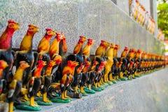La fila della bambola del pollo Immagini Stock Libere da Diritti