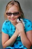 La fille aime Kitty Photos stock