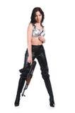 La fille armée Photographie stock