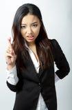 La fille asiatique attirante 20 années a tiré dans le studio Photo libre de droits