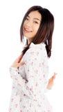 La fille asiatique attirante 20 années a tiré dans le studio Image stock