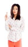 La fille asiatique attirante 20 années a tiré dans le studio Images stock