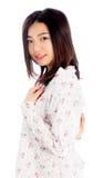 La fille asiatique attirante 20 années a tiré dans le studio Photographie stock libre de droits