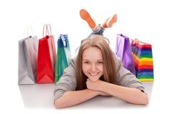 Le client heureux Photo stock