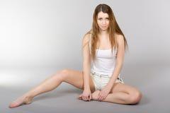 La fille aux cheveux longs Image stock