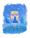 La fille avec des ailes Images libres de droits