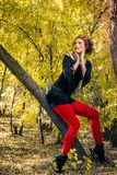 Fille d'automne Image stock
