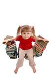 La fille avec des livres Photos libres de droits