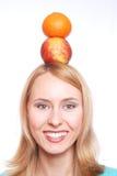 La fille avec le fruit Photos libres de droits