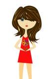 La fille avec une fleur Image stock