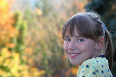 La fille d'automne Photographie stock libre de droits