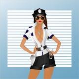 La fille dans l'uniforme Image libre de droits
