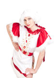 La fille dans la robe nationale Images libres de droits
