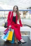 La fille dans la veste rouge Images libres de droits