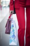 La fille dans la veste rouge Photos libres de droits