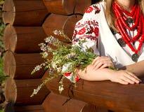 La fille dans le costume national ukrainien Images libres de droits