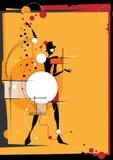 La fille dans le style d'un cubisme illustration libre de droits