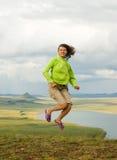 La fille dans un saut Photos libres de droits