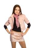La fille dans une jupe courte photographie stock libre de droits
