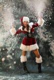 La fille de neige Photographie stock