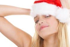 La fille de Noël Image libre de droits