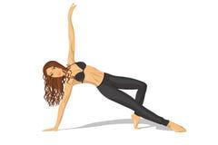 La fille de sport faisant une forme physique s'exerce image stock
