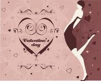 La fille de Valentine Images stock
