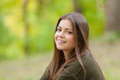 La fille en parc Photographie stock libre de droits