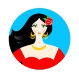La fille espagnole Image libre de droits