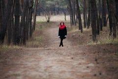 La fille et la route Image stock